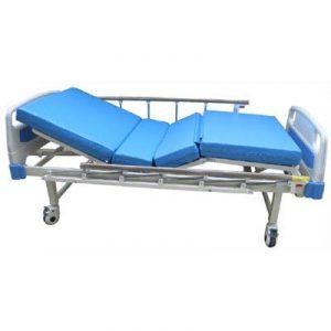 เตียงผู้ป่วย เตียงคนไข้ 2 ไกร์ มือหมุน หัวท้าย ABS รุ่น BYUQ2400