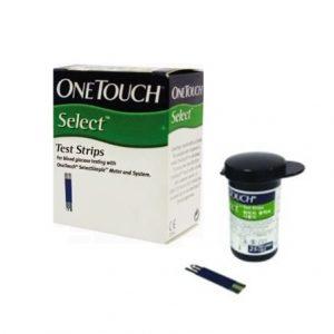 แผ่นตรวจน้ำตาล ONETOUCH รุ่น SELECT 25 ชิ้น