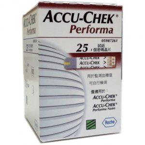 แผ่นตรวจน้ำตาล ACCU-CHEK รุ่น PERFORMA 25 ชิ้น