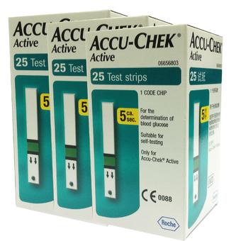 แผ่นตรวจน้ำตาล ACCU-CHEK รุ่น ACTIVE 25 ชิ้น