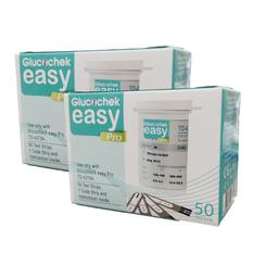 แผ่นตรวจน้ำตาล GLUCOCHEK EASY PRO กล่องละ 50 ชิ้น