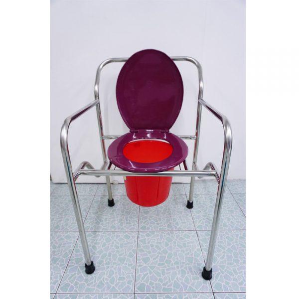 เก้าอี้นั่งถ่ายสแตนเลส พับได้