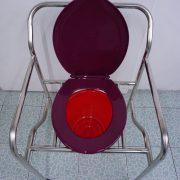 เก้าอี้นั่งถ่ายสแตนเลส พับไม่ได้