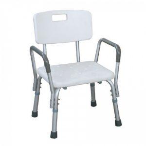 เก้าอี้อาบน้ำรุ่นมีพนักพิง ที่วางแขน