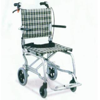 รถเข็นผู้ป่วย MINI น้ำหนักเบา เบาะนั่งเล็ก พร้อมกระเป๋า